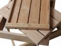 """Les 4 éléments à assembler d'un fauteuil """"Square"""""""