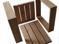 """-Les 4 éléments à assembler d'un fauteuil """"Square""""-"""