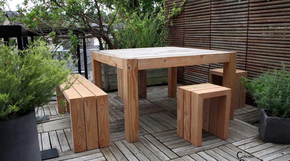 Concept douglas le design c t jardin salons de jardin for Jardin concept